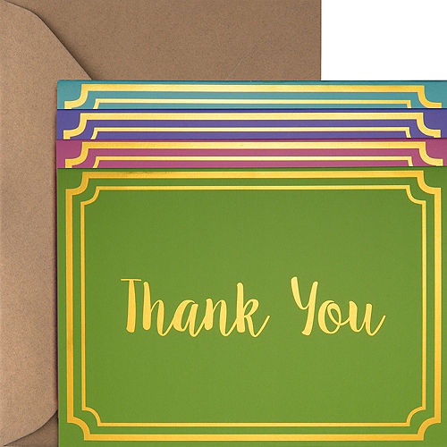Metallic Multicolor Bright Thank You Notes 20ct Image #1