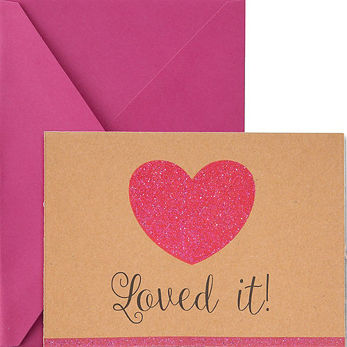 Glitter Loved It Kraft Thank You Notes 8ct Image #1
