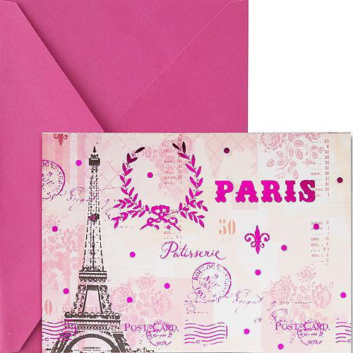 Metallic Pink Paris Note Cards 20ct Image #1