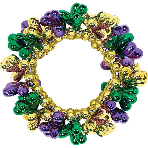 Mardi Gras Bead Bracelet Image #1