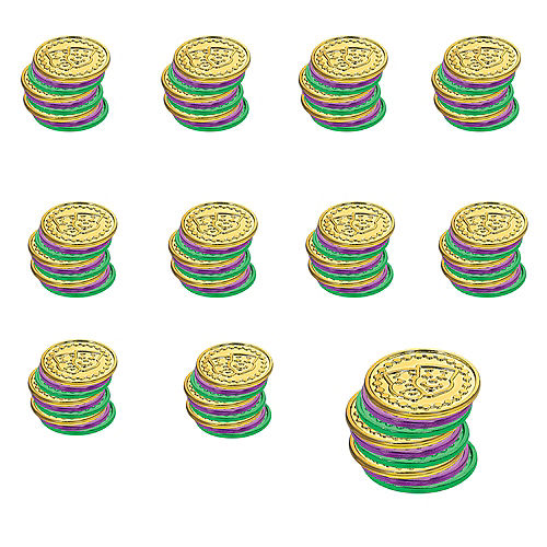Mardi Gras Coins 100ct Image #1
