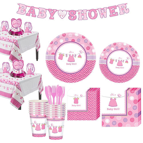 Girl Baby Shower Kit Shower With Love 16 guests Image #1
