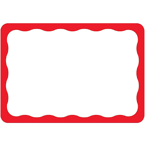 Red Border Name Tags 100ct Image #1