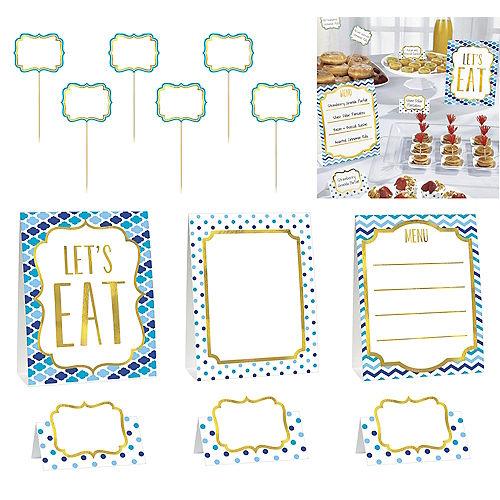 Blue Buffet Decorating Kit 12pc Image #1