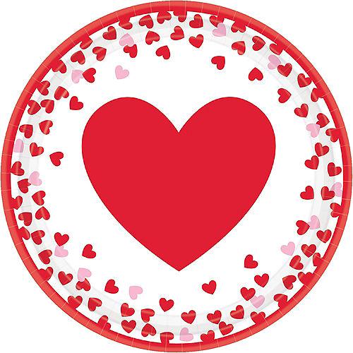 Confetti Hearts Valentine's Day Lunch Plates 8ct Image #1