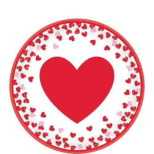 Confetti Hearts Valentine's Day Dessert Plates 8ct Image #1