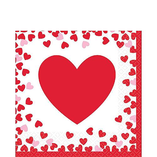 Confetti Hearts Valentine's Day Lunch Napkins 16ct Image #1