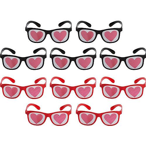 Heart Printed Glasses 10ct Image #1
