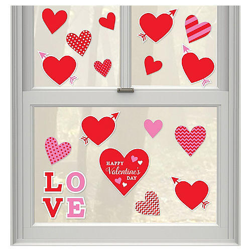 Valentine's Day Window Cling Decals 20ct Image #1
