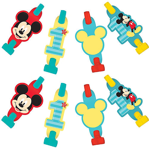 1st Birthday Mickey Mouse Blowouts 8ct Image #1