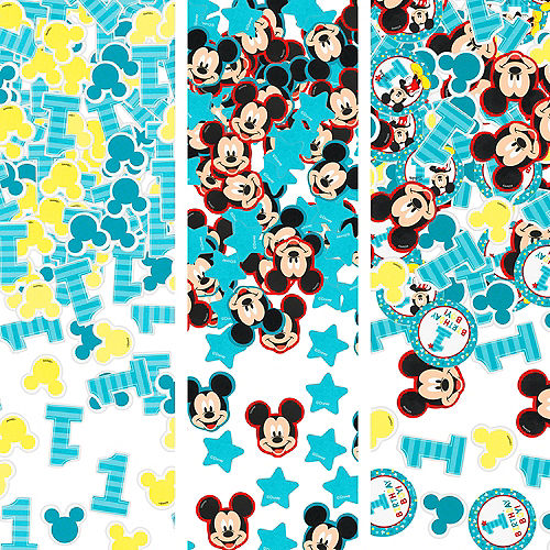 1st Birthday Mickey Mouse Confetti Image #1