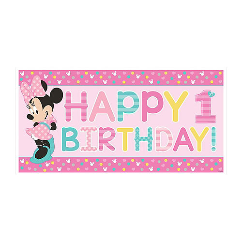 1st Birthday Minnie Mouse Banner Image #1