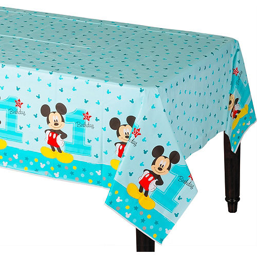 1st Birthday Mickey Mouse Table Cover Image #1