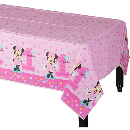 1st Birthday Minnie Mouse Table Cover Image #1