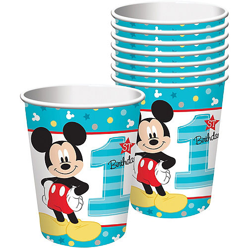 1st Birthday Mickey Mouse Cups 8ct Image #1