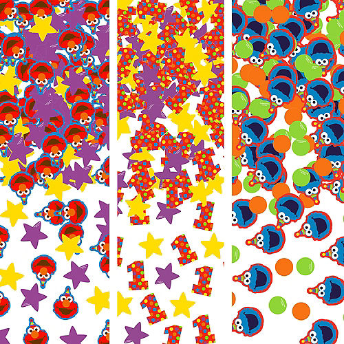 1st Birthday Elmo Confetti Image #1