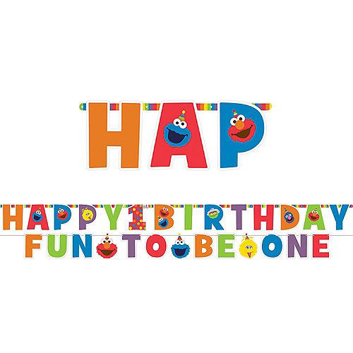 1st Birthday Elmo Letter Banner Kit 2pc Image #1