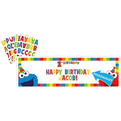Giant 1st Birthday Elmo Personalized Banner Kit Image #1