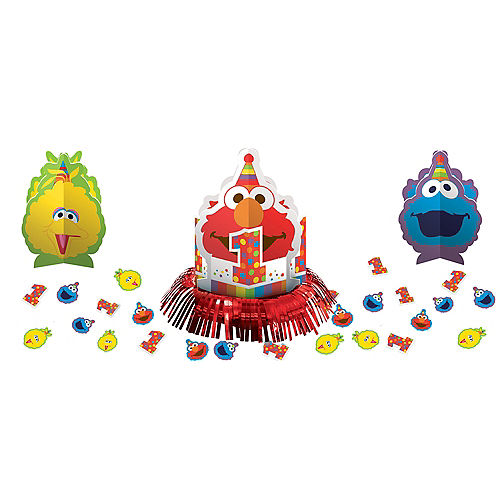 1st Birthday Elmo Table Decorating Kit 23pc Image #1
