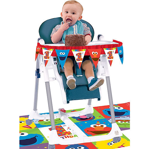 1st Birthday Elmo High Chair Decorating Kit 2pc Image #1