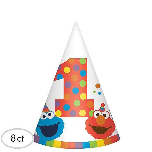 1st Birthday Elmo Party Hats 8ct Image #1