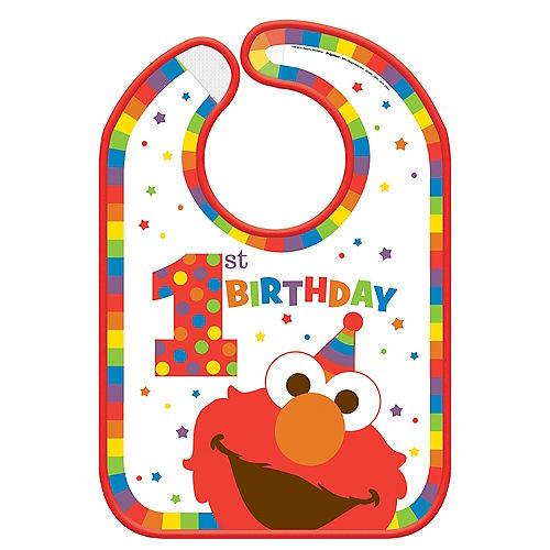 1st Birthday Elmo Bib Image #1