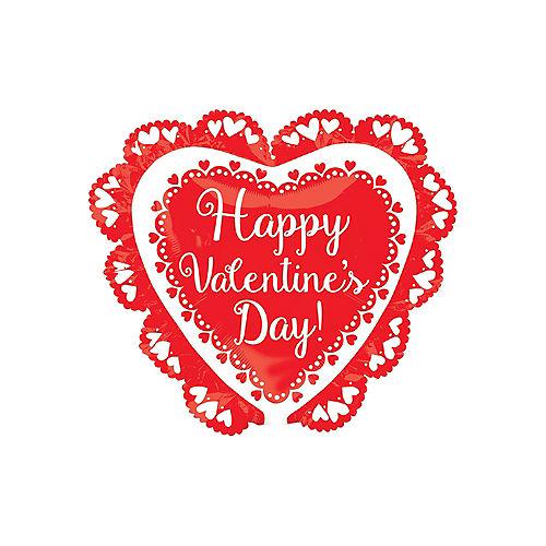 Doily Happy Valentine's Day Heart Balloon Image #1