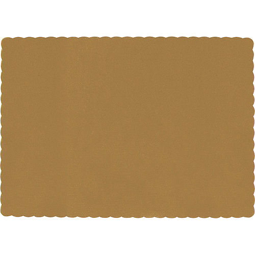 Big Party Pack Gold Paper Placemats 50ct Image #1