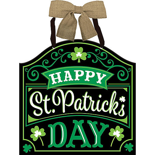 Bow Happy St. Patrick's Day Sign  Image #1