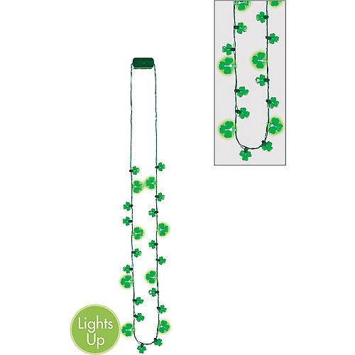 Light-Up LED Shamrock Necklace Image #1