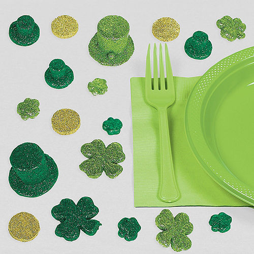 Glitter St. Patrick's Day Table Scatter 20ct Image #1