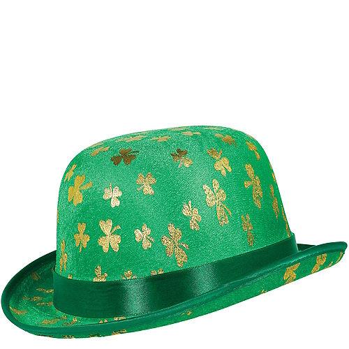 Gold Shamrock Derby Hat Image #1