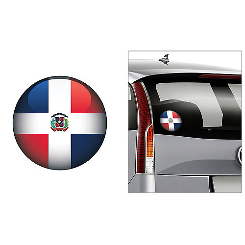Dominican Flag Decal Image #1