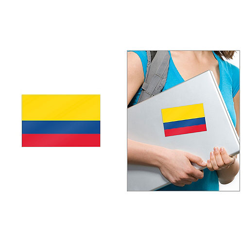 Colombian Flag Cling Decal Image #1