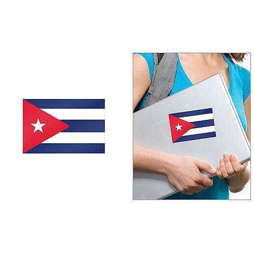 Cuban Flag Cling Decal Image #1