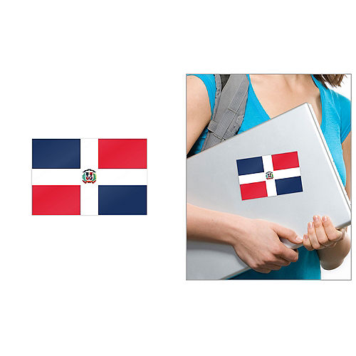 Dominican Flag Cling Decal Image #1