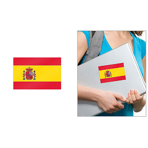 Spanish Flag Cling Decal Image #1
