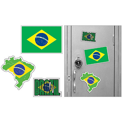 Brazilian Magnets 3pc Image #1