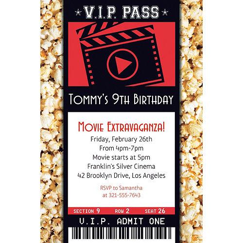 Custom Movie Ticket Invitation Image #1