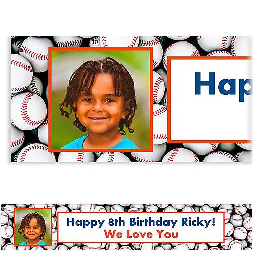 Custom Baseball Ticket Photo Banner Image #1