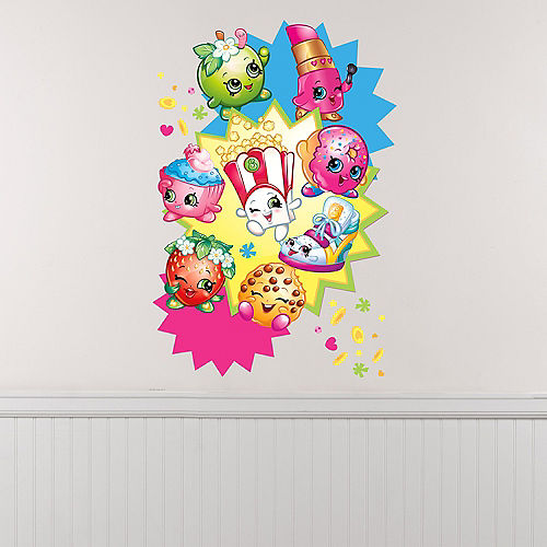 Giant Starburst Shopkins Wall Decal Image #1