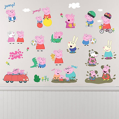 Peppa Pig Wall Decals 28ct Image #1