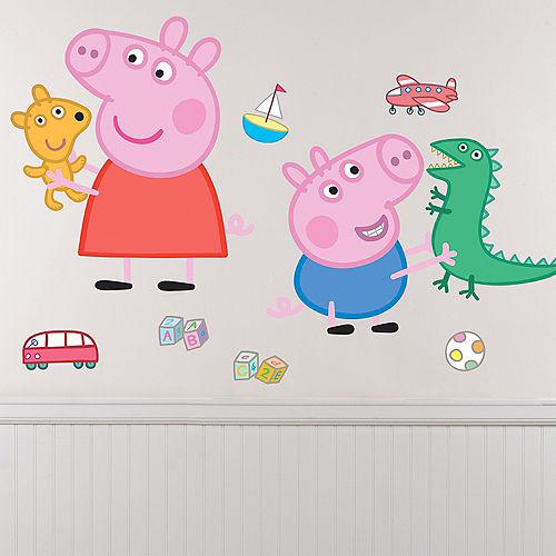George & Peppa Pig Wall Decals 8ct Image #1