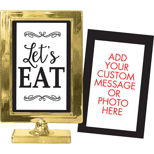Gold Table Sign Image #1