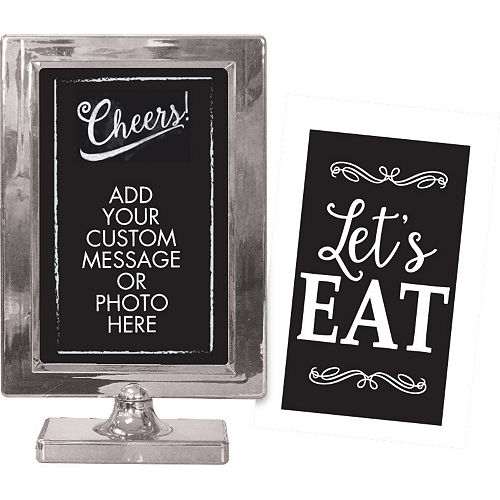 Silver Table Sign Image #1