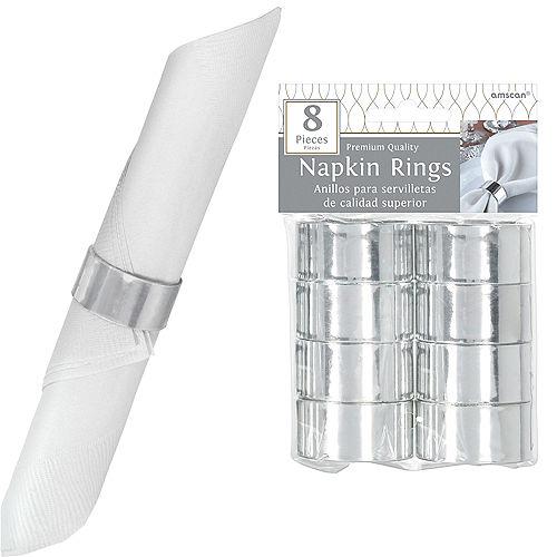 Silver Napkin Rings 8ct Image #1