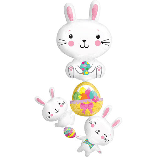 Giant Easter Bunny Cluster Balloon, 35in Image #1