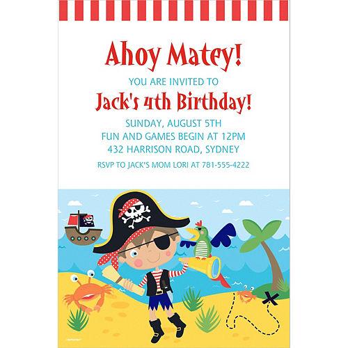 Custom Little Pirate Invitation Image #1