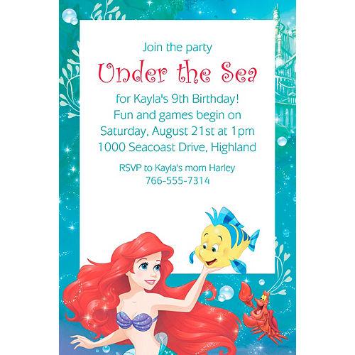 Custom Ariel Invitation Image #1