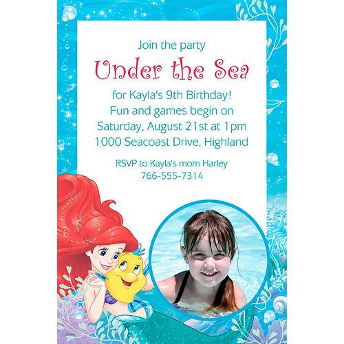 Custom Ariel Photo Invitation Image #1